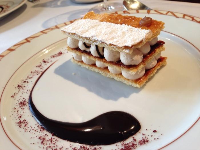 g's favorite dessert of the trip: chestnut millefeuille