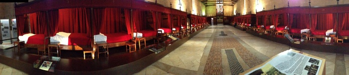 panoramic view of the main room where patients would go