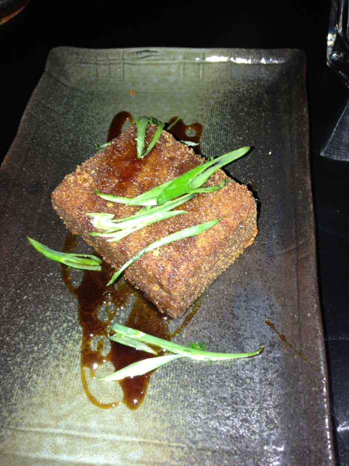 Scrapple - The sweetness of the dish was the most memorable note. A subtle scrapple, not the typical savory punch you in the face type pork concoction. The crunch of the outside had the perfect sizzle but the overall loaf was soft.