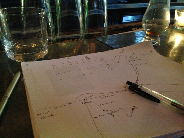 this brainstorm brought to you by whisk[e]y ... Spain and France won't eve know what hit 'em ...